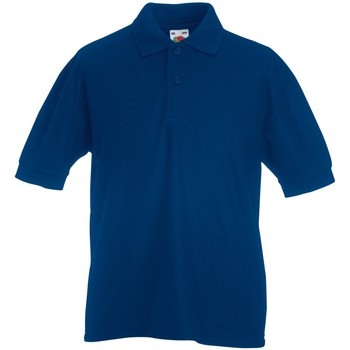 Abbigliamento Unisex bambino Polo maniche corte Fruit Of The Loom 63417 Blu navy