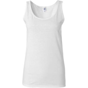Abbigliamento Donna Top / T-shirt senza maniche Gildan 64200L Bianco