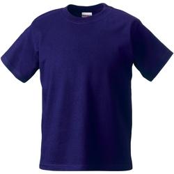 Abbigliamento Unisex bambino T-shirt maniche corte Jerzees Schoolgear ZT180B Viola