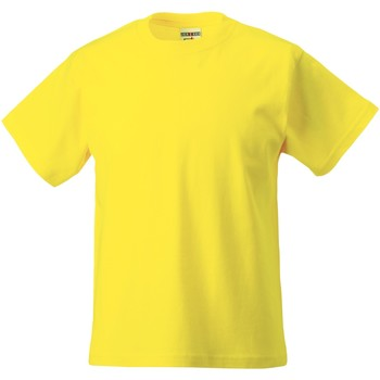 Abbigliamento Unisex bambino T-shirt maniche corte Jerzees Schoolgear ZT180B Giallo