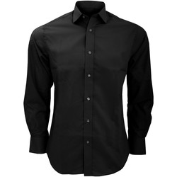 Abbigliamento Uomo Camicie maniche lunghe Kustom Kit KK131 Nero