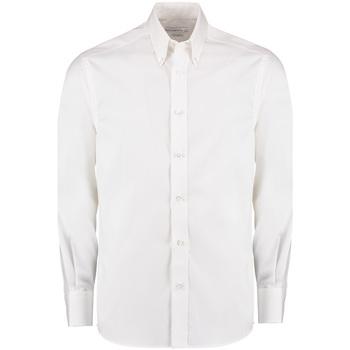 Abbigliamento Uomo Camicie maniche lunghe Kustom Kit KK131 Bianco