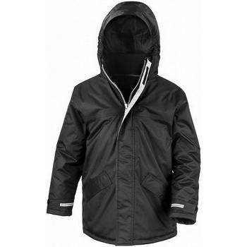 Abbigliamento Unisex bambino giacca a vento Result Parka Nero