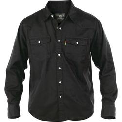 Abbigliamento Uomo Camicie maniche lunghe Duke Western Nero