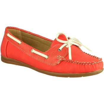 Scarpe Donna Scarpe da barca Divaz BELGRAVIA Rosso