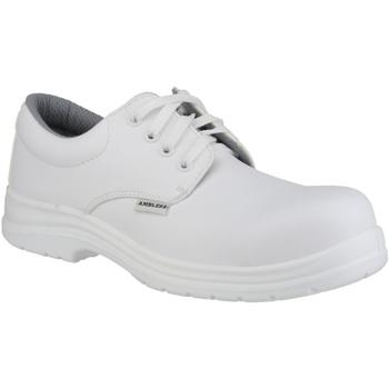 Scarpe Uomo Derby Amblers FS511 White Safety Shoes Bianco