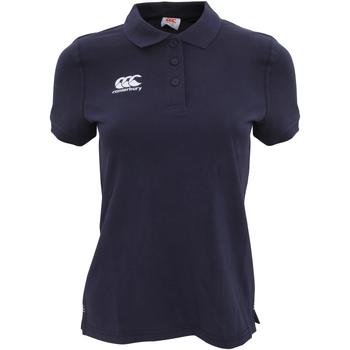 Abbigliamento Donna Polo maniche corte Canterbury CN220F Blu navy
