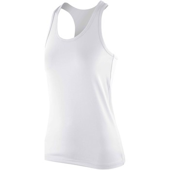 Abbigliamento Donna Top / T-shirt senza maniche Spiro SR281F Bianco