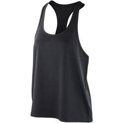 Abbigliamento Donna Top / T-shirt senza maniche Spiro SR285F Nero