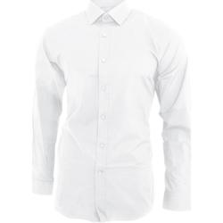 Abbigliamento Uomo Camicie maniche lunghe Brook Taverner BK130 Bianco