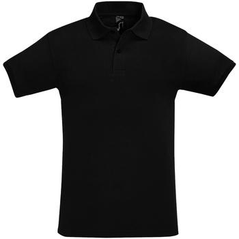 Abbigliamento Uomo Polo maniche corte Sols 11346 Nero