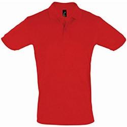 Abbigliamento Uomo Polo maniche corte Sols 11346 Rosso