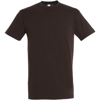 Abbigliamento Uomo T-shirt maniche corte Sols 11380 Cioccolato
