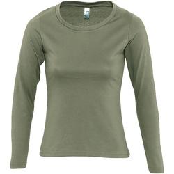 Abbigliamento Donna T-shirts a maniche lunghe Sols Majestic Kaki