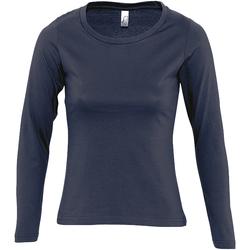 Abbigliamento Donna T-shirts a maniche lunghe Sols Majestic Blu navy
