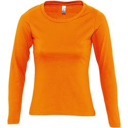Abbigliamento Donna T-shirts a maniche lunghe Sols Majestic Arancio