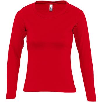 Abbigliamento Donna T-shirts a maniche lunghe Sols Majestic Rosso