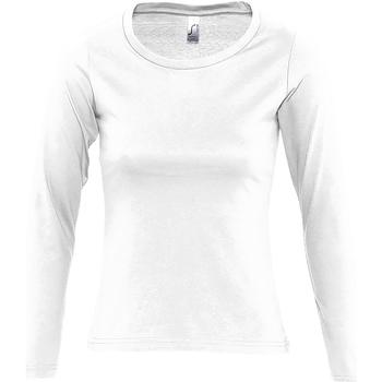 Abbigliamento Donna T-shirts a maniche lunghe Sols Majestic Bianco