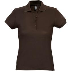 Abbigliamento Donna Polo maniche corte Sols 11338 Cioccolato