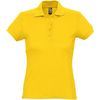Abbigliamento Donna Polo maniche corte Sols 11338 Giallo oro
