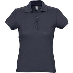 Abbigliamento Donna Polo maniche corte Sols 11338 Blu navy