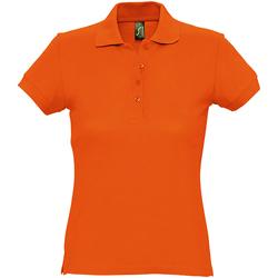 Abbigliamento Donna Polo maniche corte Sols 11338 Arancio