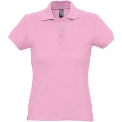 Abbigliamento Donna Polo maniche corte Sols 11338 Rosa