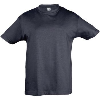 Abbigliamento Unisex bambino T-shirt maniche corte Sols 11970 Blu navy