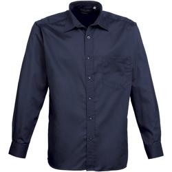 Abbigliamento Uomo Camicie maniche lunghe Premier PR200 Blu navy