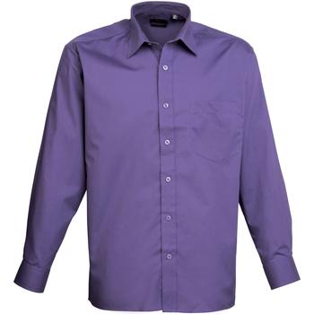Abbigliamento Uomo Camicie maniche lunghe Premier PR200 Viola