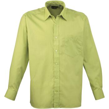 Abbigliamento Uomo Camicie maniche lunghe Premier PR200 Verde lime