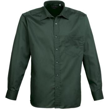 Abbigliamento Uomo Camicie maniche lunghe Premier PR200 Verde bottiglia