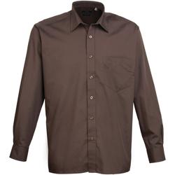 Abbigliamento Uomo Camicie maniche lunghe Premier PR200 Marrone