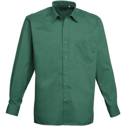 Abbigliamento Uomo Camicie maniche lunghe Premier PR200 Smeraldo