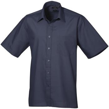 Abbigliamento Uomo Camicie maniche corte Premier PR202 Blu navy