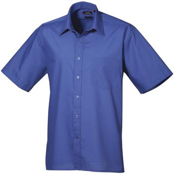 Abbigliamento Uomo Camicie maniche corte Premier PR202 Blu reale