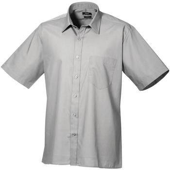 Abbigliamento Uomo Camicie maniche corte Premier PR202 Argento