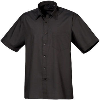 Abbigliamento Uomo Camicie maniche corte Premier PR202 Nero
