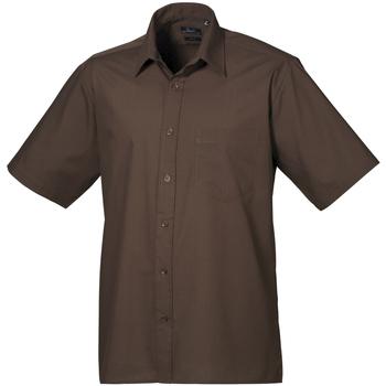 Abbigliamento Uomo Camicie maniche corte Premier PR202 Marrone