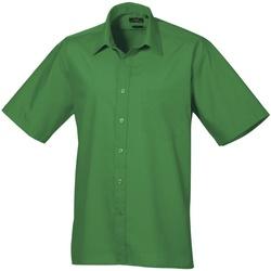 Abbigliamento Uomo Camicie maniche corte Premier PR202 Smeraldo