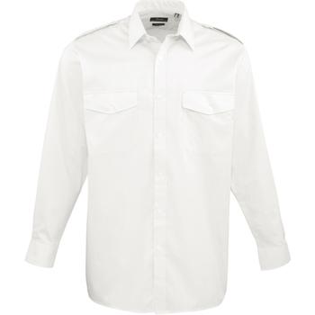 Abbigliamento Uomo Camicie maniche lunghe Premier PR210 Bianco