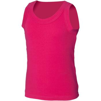 Abbigliamento Unisex bambino Top / T-shirt senza maniche Skinni Fit SM016 Fucsia