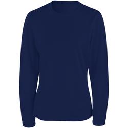 Abbigliamento Donna T-shirts a maniche lunghe Spiro S254F Blu navy