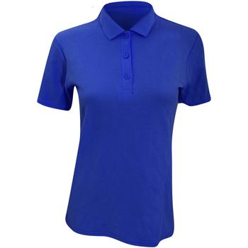 Abbigliamento Donna Polo maniche corte Anvil 6280L Blu reale