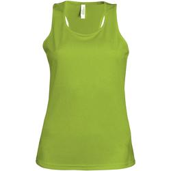 Abbigliamento Donna Top / T-shirt senza maniche Kariban Proact Proact Verde lime