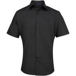 Abbigliamento Uomo Camicie maniche corte Premier PR209 Nero