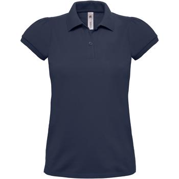 Abbigliamento Donna Polo maniche corte B And C Heavymill Blu navy