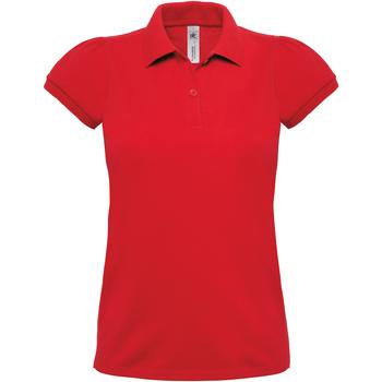 Abbigliamento Donna Polo maniche corte B And C Heavymill Rosso