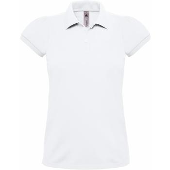 Abbigliamento Donna Polo maniche corte B And C Heavymill Bianco