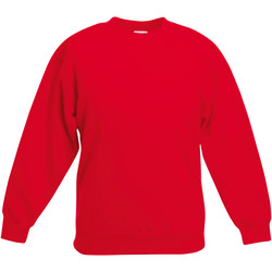 Abbigliamento Unisex bambino Felpe Fruit Of The Loom 62031 Rosso